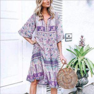 Dresses & Skirts - Bobo gypsy lavender purple dress L